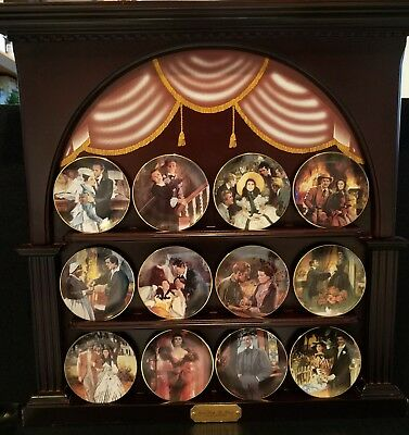 """""""Gone With The Wind"""" Golden Memories Miniature Plate Collection, The Bradford..."""