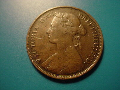 British 1876-H 1/2-Penny In Very Nice Condition