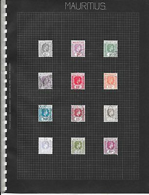 Mauritius 1938 - 49 Definative Set of 12 Very Fine Used