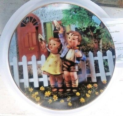 "MJ Hummel Danbury Mint Collector Plate ""Come Back Soon"" Little Companions NEW"