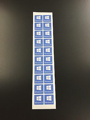10no Windows 10 Stickers Decal Badge Logo - High Quality for Laptops / Desktops