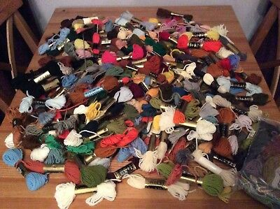Job Lot Of 200+ Skeins Of Tapestry Wool Mainly Anchor
