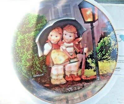 "MJ Hummel Danbury Mint Collector Plate ""Stormy Weather"" Little Companions NEW"