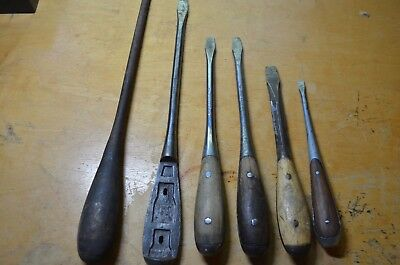 Wood Handled Wood Workers / Cabinet Makers Screwdriver Assorted Set