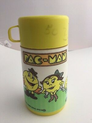 Vintage 1980 Pacman Pac Man Aladdin Bally Thermos Bottle