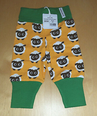 Maxomorra Sheep Rib Pants Size 56 (Approx 1-2 Months) BNWT Organic Cotton Scandi