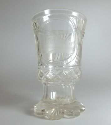 Mug Glass, Teplitz, Hand Engraved, ca.1830–1840 AL56