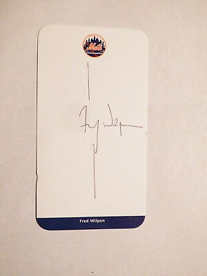 Fred Wilpon - NY METS Chairman / CEO - Autographed 3X5 Stationery Card