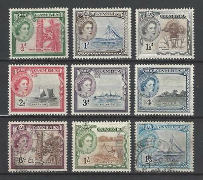 Gambia 1953 Sc#153-61  Definitive Short Set  MH Used Two Scans