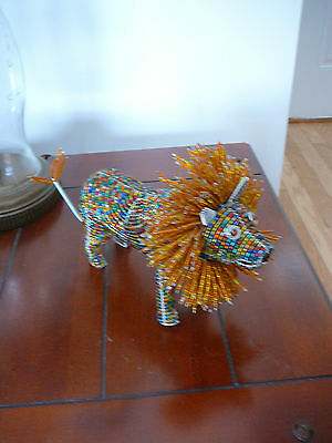 Beadworx Grass Root Hand-Crafted Beaded Lion