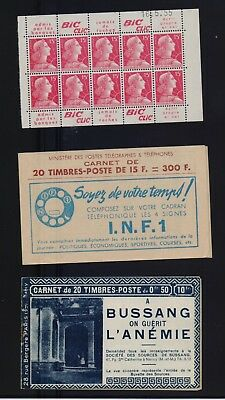 4 Carnets De Timbres Neufs 50 C Semeuse Lignee Rouge 12 F 15 F 25 F  Marianne
