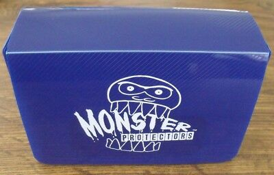 Monster Double Deck Box Trading Card Game Yugioh MTG Blue Dual Deckbox - USED