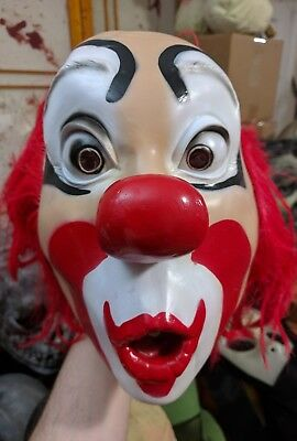 Cesar Whistling Clown Mask BSS Don Post Witch Hag Distortions Bozo It PennywiseC