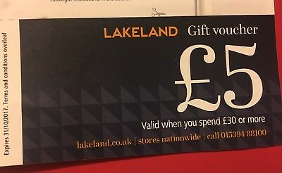 *REDUCED***Lakeland Voucher £5 Off £30 Spend or more In store or Online
