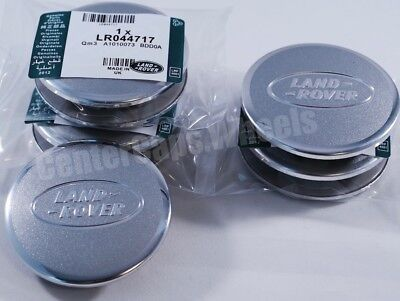 "4 Land Rover Range Rover 2.5"" Bright Aluminum Silver & Chrome Center Caps 63mm"