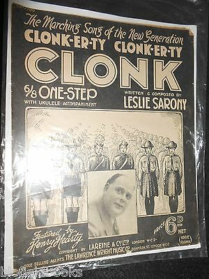 Clonk Er Ty Clonk - Leslie Sarony - 1927 - Vintage Scout/Scouting Sheet Music