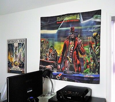 IRON MAIDEN Stranger in a Strange Land HUGE 4X4 BANNER poster tapestry cd album