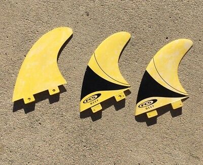 FCS OCCY tri fin Surfboard Longboard set of 3, NO RESERVE!
