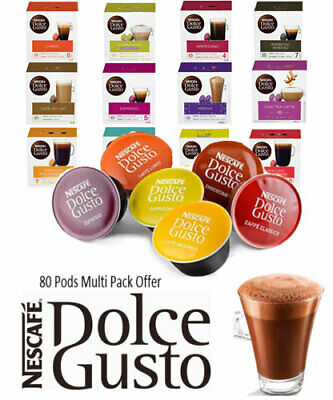 Nescafe Dolce Gusto Coffee Capsules { Bulk Pack Offer} All Top Varieties