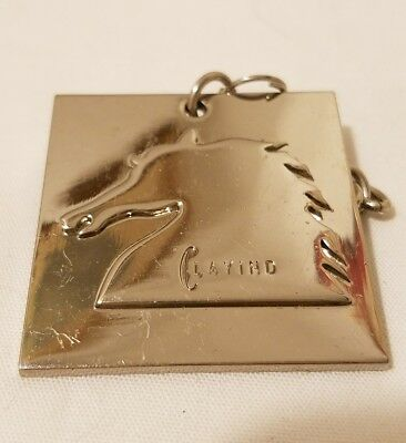 Vintage Clayind Equestrian Key Chain Estate Find