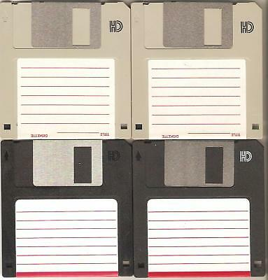 """4 – HD 1.44 MB Floppy Diskettes (disks) 3.5"""" – 3 ½"""" used - formatted"""