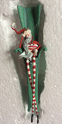 Dept 56 Christmas Tall Santa In Chair Ornament