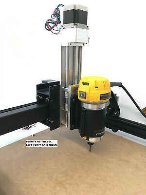 "CNC Z AXIS SLIDE **X CARVE** 6"" TRAVEL ++ ANTI-BACKLASH++ CNC ROUTER linear rail"