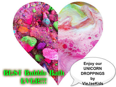 UNICORN RAINBOW DROPPINGS - BEST BUBBLING FIZZY BATH Magic - WE DO PARTY FAVORS!