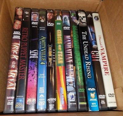 Selling HUGE movie collection - LOT 3 - HORROR and CULT- DVD - OOP - RARE