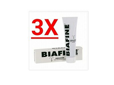 3X Biafine Emulsion Cream Skin Cutaneous Trolamine 3Xpcs 100ml Big Tube NEW
