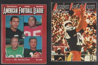 Lot of 3 Sporting News American Football League (AFL) Guides 1965, 1968 & 1969