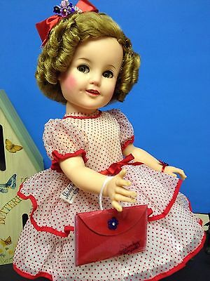 """🌷Tagged 19"""" Ideal Shirley Temple Doll Dressed In Stand Up & Cheer Outfit 🌷"""