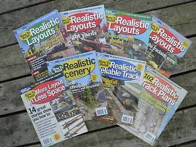 HOW TO BUILD REALISTIC LAYOUTS No. 1 to No. 8 MODEL RAILROADER SPECIAL EDITIONS