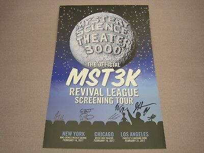 Mystery Science Theater 3000 CAST SIGNED POSTER 2017 w/ Joel Hodgson! mst3k