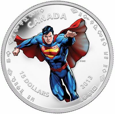 """Modern Day Canada 2013 -Fine Silver proof Coin """"75th Anniversary of Superman"""""""