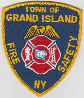 vintage run Grand Island, New York Fire Safety Dept patch   NY