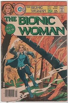 The All New Bionic Woman #3 Charlton Comics Mar. 1978 In Very Good 4.0 Condition