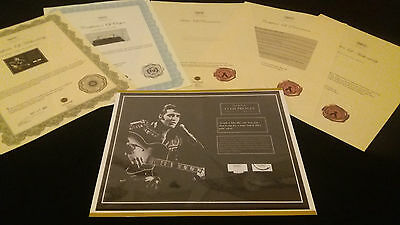 AUTHENTIC ELVIS PRESLEY Hair Lock w Shirt Piece Photo Certified Signed COA