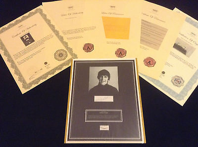 BEATLES RINGO STARR Hair Lock w Photo Provenance  Certified Signed COA Authentic