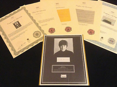 BEATLES JOHN LENNON Hair Lock w Photo Provenance  Certified Signed COA Authentic