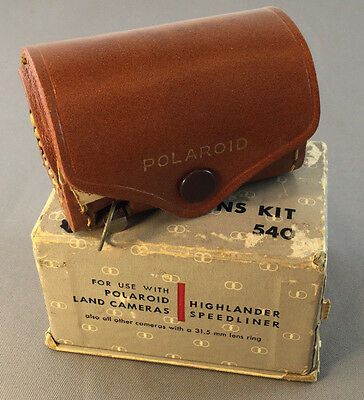 Polaroid Close Up Lens Kit 540 3 Lenses Tape measure w/ Orig Box & Instructions