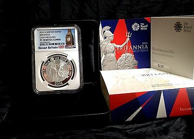 2016 Britannia NGC PF70 ULTRA CAMEO EARLY RELEASES Great Britain UK1 oz Silver