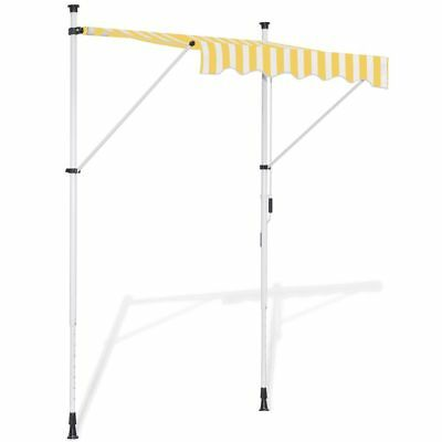 vidaXL Toldo Modelo Retráctil Tipo Manual de Colores amarillo y blanco 150 cm
