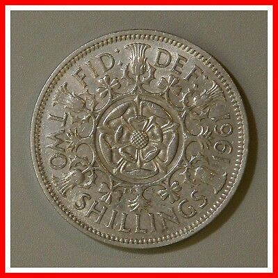 1961 Great Britain Two Shilling Coin UK England