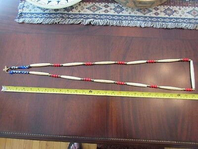 Huge Plateau / Northern Plains Antique Hairpipe and Trade Bead Strand   52 inch!