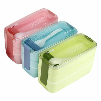 Portable Bento Lunch Box Storage Picnic Microwave Boxes Food Container US STOCK