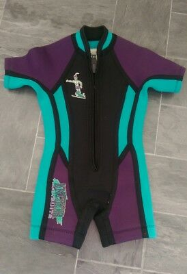 Anchor wetsuit suit girl or boy, short arms & legs, size 1 - 2 year old