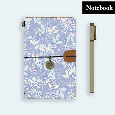 Hand Made Genuine Leather Journal Travel Diary Travelers Notebook Size Flower