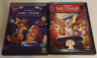 Walt Disney's Lady and The Tramp & Lady and The Tramp 2 Scamp's Adventure (DVD)