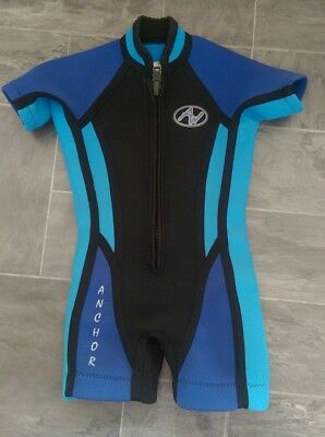 Anchor wetsuit suit girl or boy, short arms & legs, size 2 - 3 year old